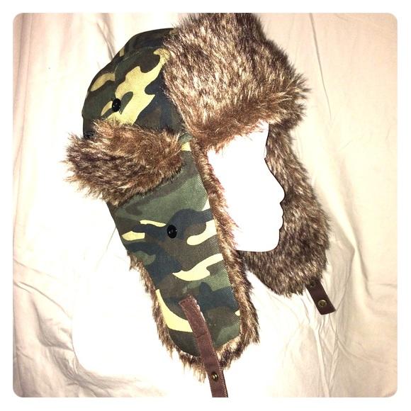 Faux Fur Camo Yukon Cutie Cap  f6c54e51357